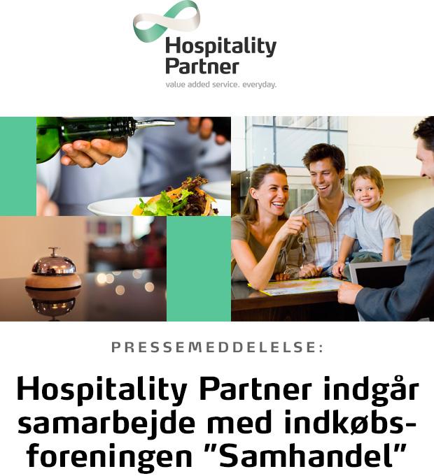 """Hospitality Partner har per 1. januar 2016 indgået samarbejde med indkøbsforeningen """"Samhandel"""""""